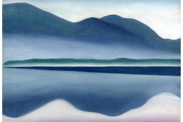 "Georgia O'Keeffe's ""Lake George (formerly Reflection Seascape)"" (1922).CreditCreditAll rights reserved, San Francisco Museum of Modern Art and Georgia O'Keeffe Museum/Artists Rights Society (ARS), New York."