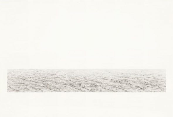 Vija Celmins, Long Ocean #5, 1972. Graphite on acrylic ground on paper. 29 ½ x 43⅝ in. Estimate: $1,500,000-2,000,000. Offered in the Post-War & Contemporary Art Day Sale at Christie's in New York
