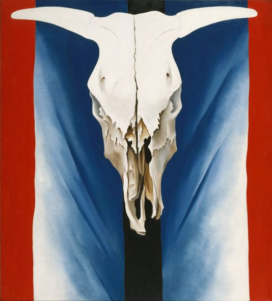 Georgia O'Keeffe Cow's Skull: Red, White, and Blue, 1931 (The Met Fifth Avenue)