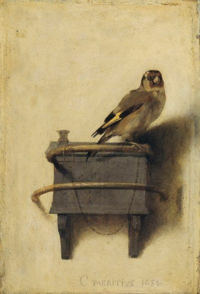 CAREL FABRITIUS, THE GOLDFINCH, 1654. MAURITSHUIS MUSEUM.