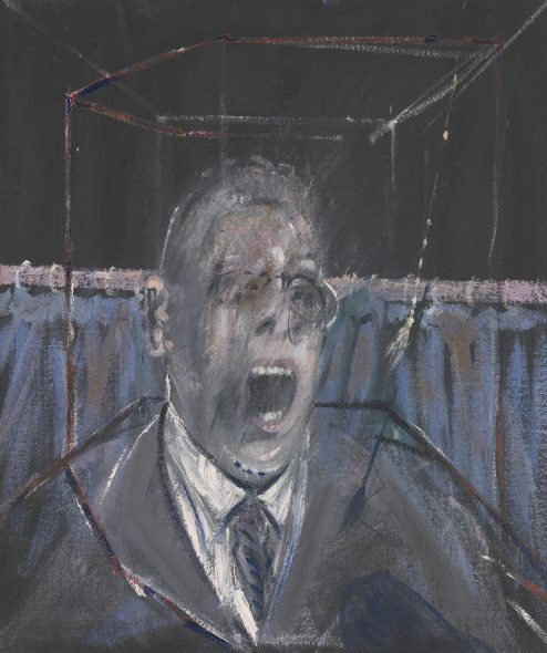 Francis Bacon, Study for a Portrait (CR 52-06), 1952, Oil paint and sand on canvas, 661 x 561 x 18 mm. Tate: Bequeathed by Simon Sainsbury 2006, accessioned 2008 © The Estate of Francis Bacon. All rights reserved by SIAE 2019. Photo: © Tate,2019