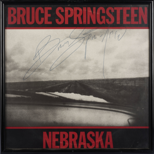 Lotto 27 BRUCE SPRINGSTEEN Album, 'Nebraska' Autografato Stima € 250 - 500