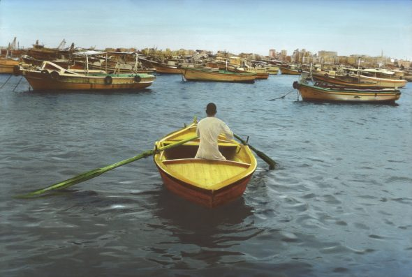 Youssef Nabil - Say Goodbye, Self Portrait, Alexandria 2009  Hand coloredgelatinsilverprint Courtesy of the Artist