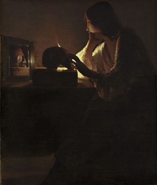 Georges de La Tour Maddalena penitente, 1635 - 1640 olio su tela 113 x 92.7 cm National Gallery of Art Washington D.C. U.S.A.