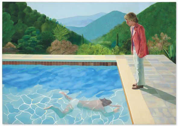 David Hockney (b. 1937) Portrait of an Artist (Pool with Two Figures) acrylic on canvas 84 x 120 in. (213.5 x 305 cm.) Painted in 1972.