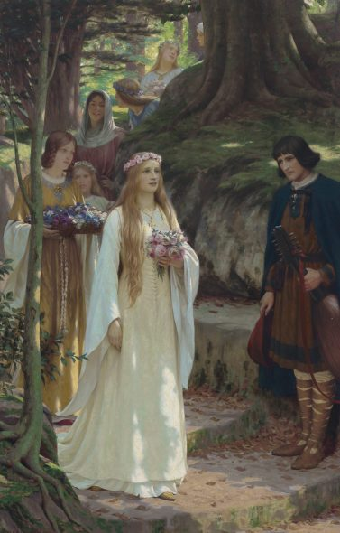 Christie's Classical Week New York 2019 Edmund Blair Leighton, My Lady Passeth By, 1914, stimato 100.000-150.000$