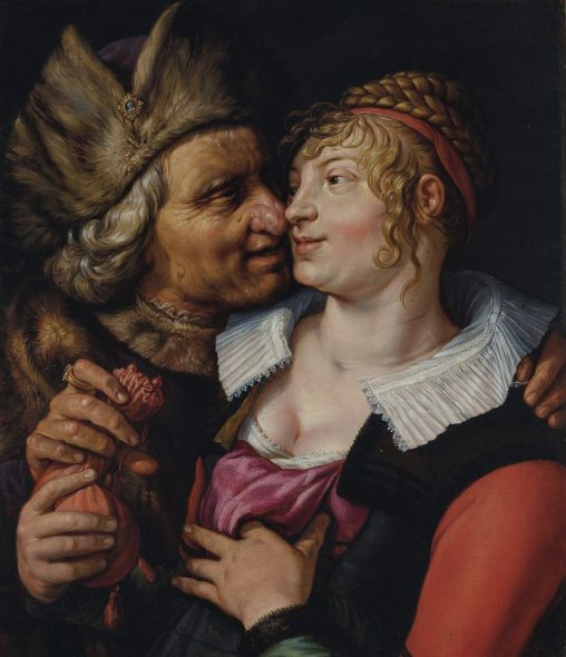 Christie's Classical Week New York 2019 Hendrick Goltzius, Unequal Lovers, 1617, stimato 300.000-500.000$