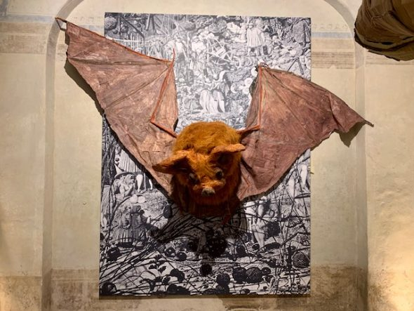 Monster Chetwynd, Bat , 2018. Courtesy Fondazione Sandretto Re Rebaudengo.