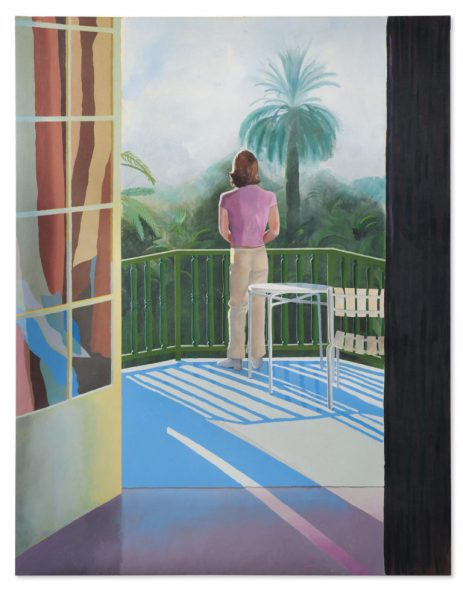 David Hockney Sur La Terrasse christie's