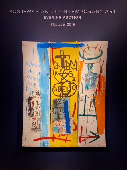 Asta Christie's Londra ottobre 2019 Jean-Michel Basquiat, Four Big, 1982