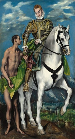 EL GRECO (Domínikos Theotokópoulos) Saint Martin et le pauvre, 1597-99 © Washington, National Gallery of Art