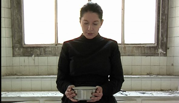 Marina Abramović, Carrying the Milk, From the series The Kitchen, Homage to Saint Therese, video installation, color, 2009 © Marina Abramović Courtesy of the Marina Abramović Archives