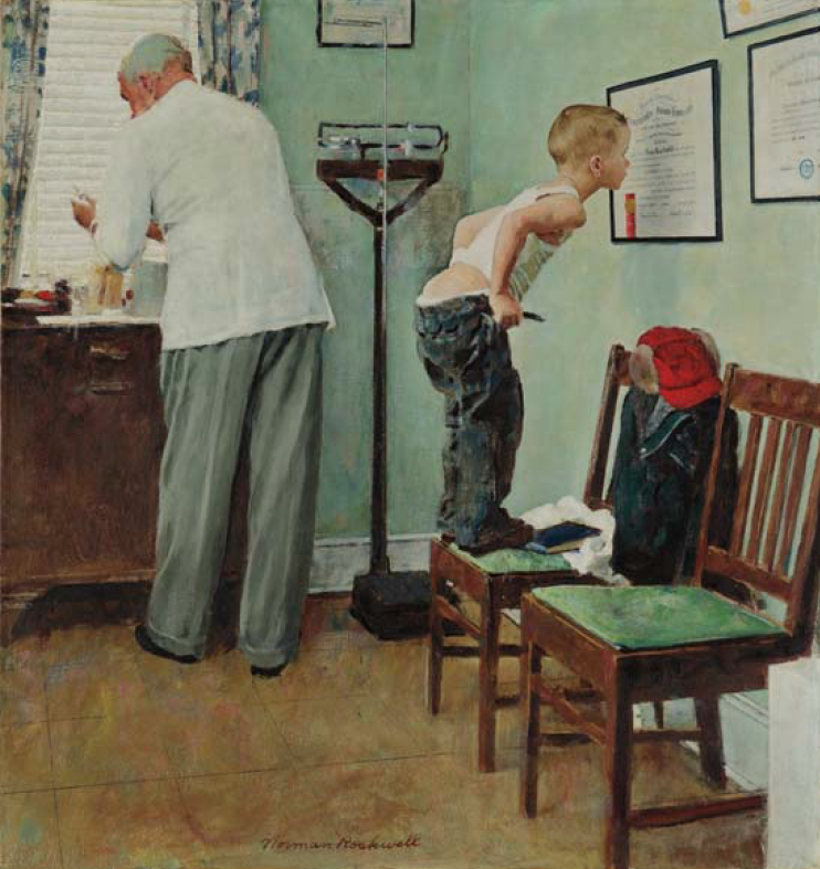"L'America autentica degli anni '50. ""Before the Shot"" di Norman Rockwell in asta a New York"