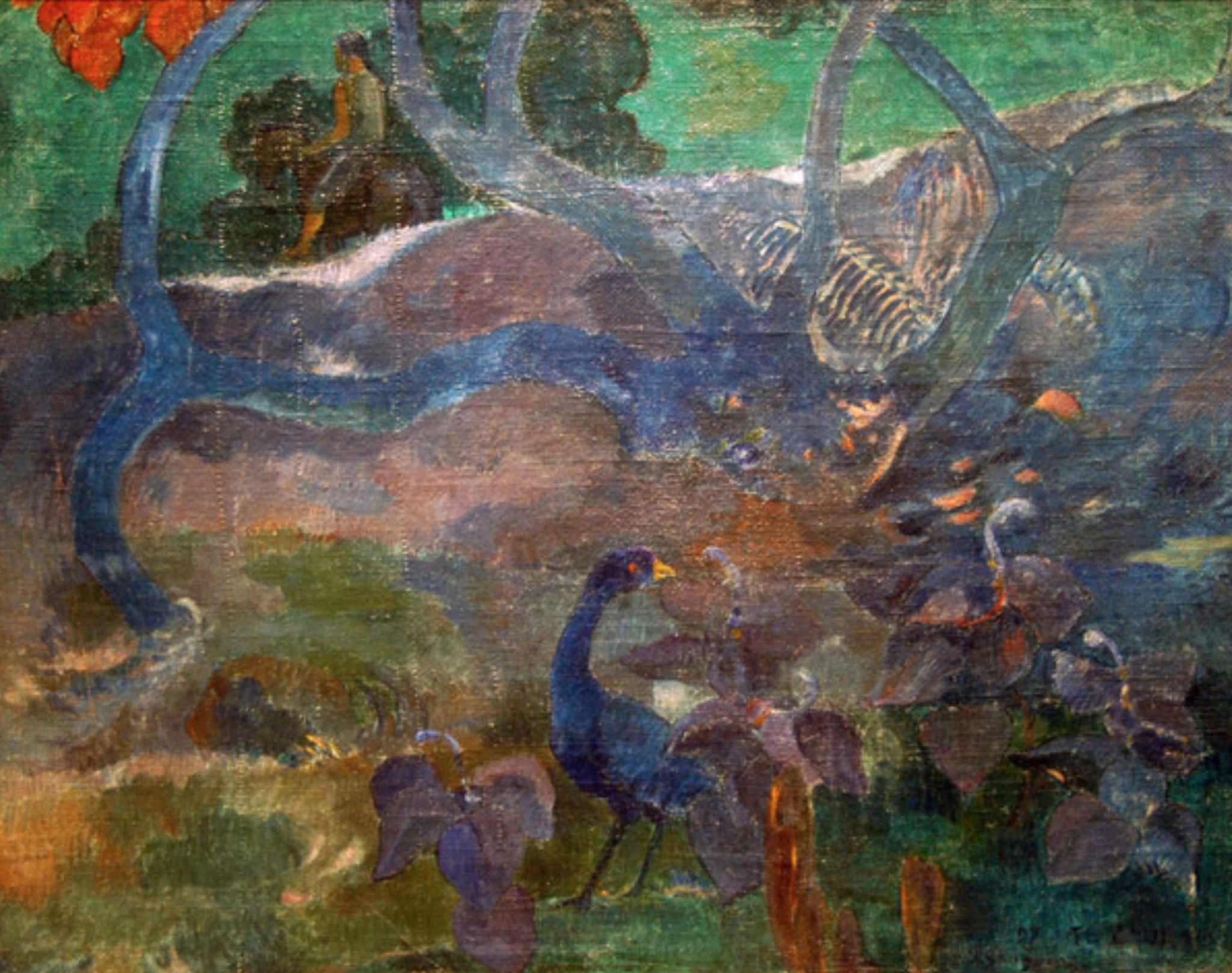 Te Bourao (The Purao Tree), di Paul Gauguin
