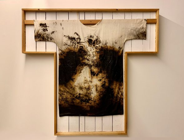 Hermann Nitsch, Painting shirt, 1997. Courtesy the artist.