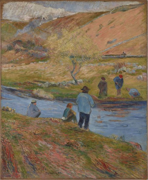 Paul Gauguin Breton Fishermen, 1888 Olio su tela, 72,4x60 cm Onyx Art Collection Photo Peter Schälchli, Zürich