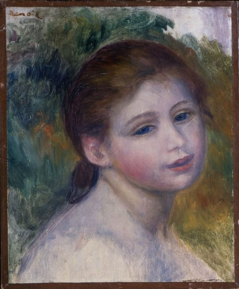 Pierre-Auguste Renoir Tête de femme, 1887 circa Olio su tela, 31x25,5 cm Isabelle and Scott Black Collection