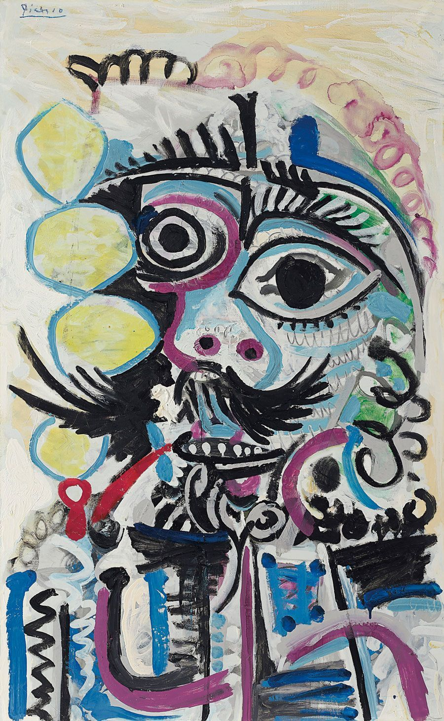 Pablo Picasso (1881-1973), Buste d'homme, 1968. Offered in the Impressionist and Modern Art Evening Sale on 11 November at Christie's in New York. Artwork: © 2019 Estate of Pablo Picasso / Artists Rights Society (ARS), New York
