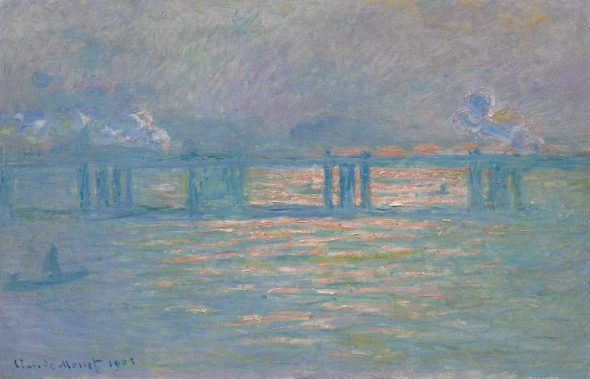 laude Monet, Charing Cross Bridge (1899–1901), from the collection of Andrea Klepetar-Fallek, is expected to fetch $20 million to $30 million at auction. Courtesy of Sotheby's New York.