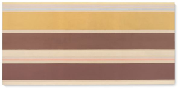Kenneth Noland RAFT WAY SIGNED, TITLED AND DATED 1969 ON THE REVERSE; TITLED ON THE STRETCHER, ACRYLIC ON CANVAS. Estimate 180,000 — 250,000 EUR