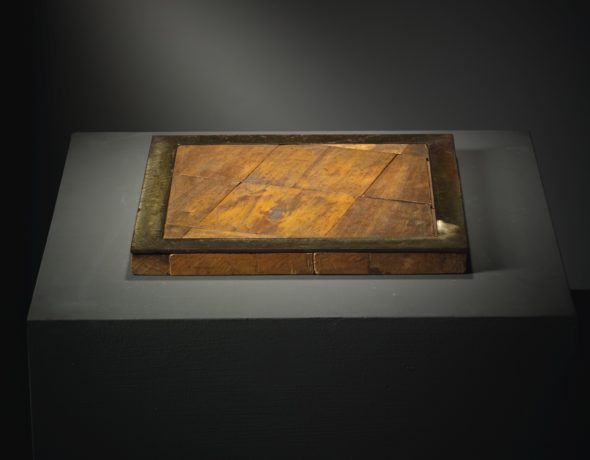 Alighiero Boetti LEGNO FERRO (PAVIMENTO) WOOD AND IRON. EXECUTED IN 1967. THIS WORK IS REGISTERED IN THE ARCHIVIO ALIGHIERO BOETTI, ROME, UNDER THE N. 76 AND IT IS ACCOMPANIED BY A PHOTO-CERTIFICATE SIGNED BY THE ARTIST. Estimate 80,000 — 120,000 EUR