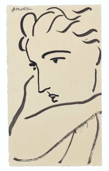 Henri Matisse (1869-1954) Profil de femme Price realised USD 735,000 Estimate USD 400,000 - USD 600,000