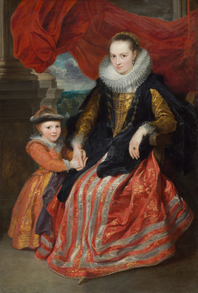 Sir Anthony van Dyck (Flemish, 1599 - 1641), Susanna Fourment and Her Daughter, 1621, oil on canvas, Andrew W. Mellon Collection 1937.1.48