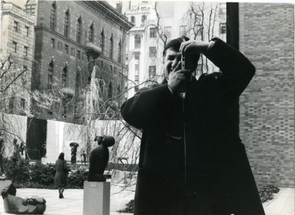 Emilio Scanavino al MoMA Museum of Modern Art di New York City, 1961. Archivio Scanavino