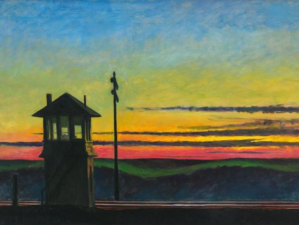 Edward Hopper, Rail rpad sunset, 1929 / Autore: Whitney Museum of American Art / Detentore del copyright: © © Heirs of Josephine Hopper / 2019, ProLitteris, Zürich - © 2019. Digital image Whitney Museum of American Art, Licensed by Scala