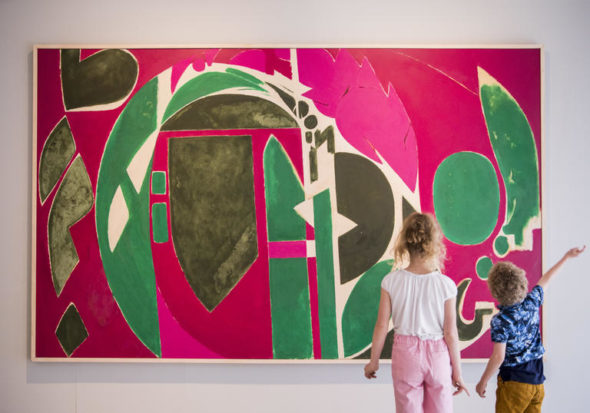 Lee Krasner: Living Colour, Installation View with Palingenesis , 1971, Barbican Art Gallery, 30 May - 1 Sept 2019