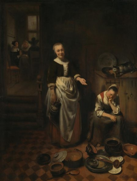 Nicolaes Maes | The Idle Servant | NG207 | National Gallery, London
