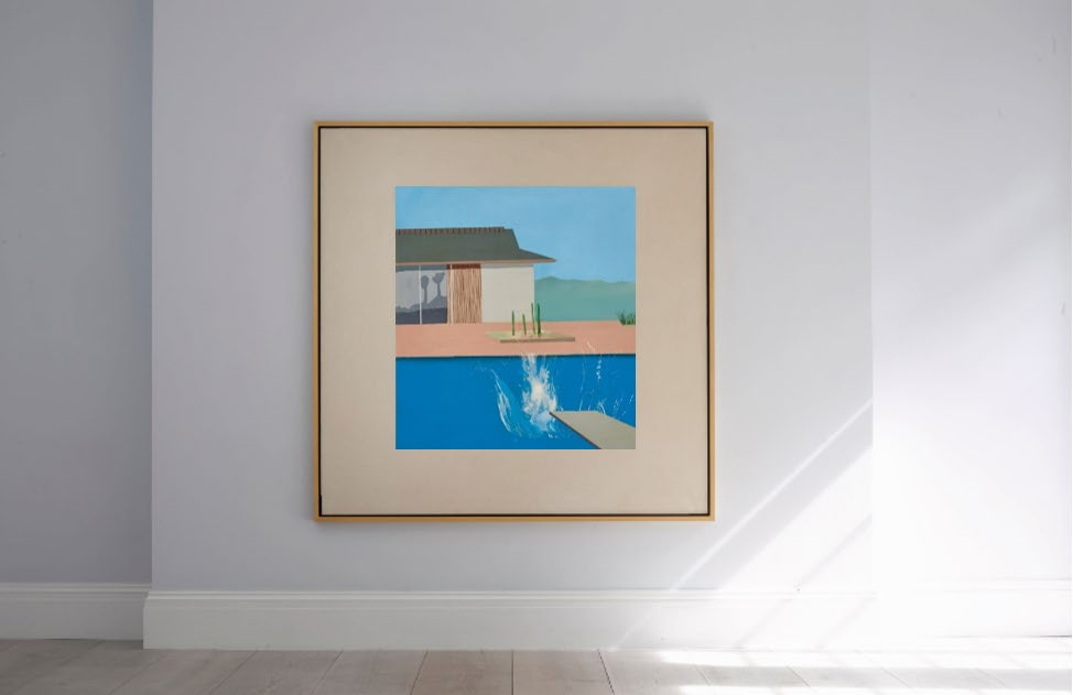 L'onda lunga di David Hockney. The Splash all'asta da Sotheby's, stima 20-30 milioni