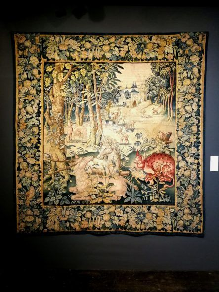 De Witt Fine Tapestries, Landscape with unicorn, deer and lynx (XVI sec.)
