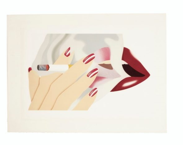 Tom Wesselmann (1931-2004), Smoker, 1976.
