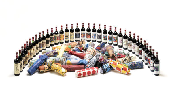 35 vintages Casanuova papers in the middle