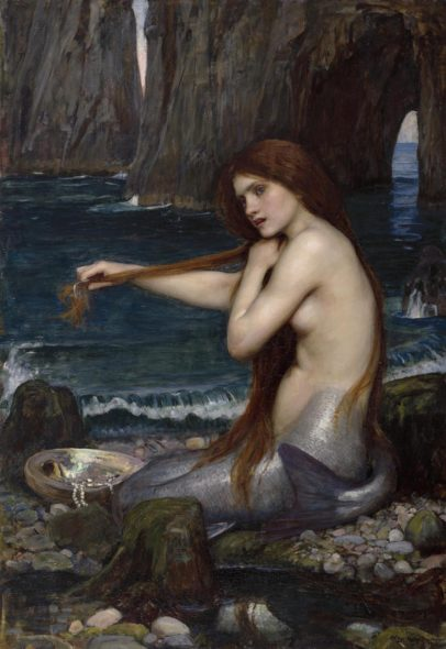 John W. Waterhouse, Sirena, 1900, olio su tela. Londra, Royal Academy of Arts