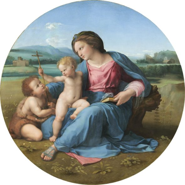 Madonna con il Bambino e san Giovannino (Madonna d'Alba) Madonna and Child with Saint John 1510 circa olio su tavola trasferito su tela / oil on panel transferred to canvas Washington, D.C., National Gallery of Art, Andrew W. Mellon Collection © National Gallery of Art, Washington